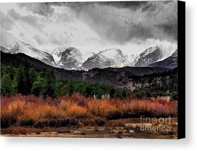 Rocky Mountain National Park Canvas Print featuring the photograph Big Storm by Jon Burch Photography