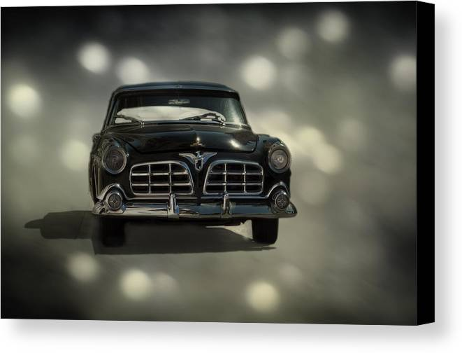 Car Canvas Print featuring the photograph Black Beauty by Mario Celzner