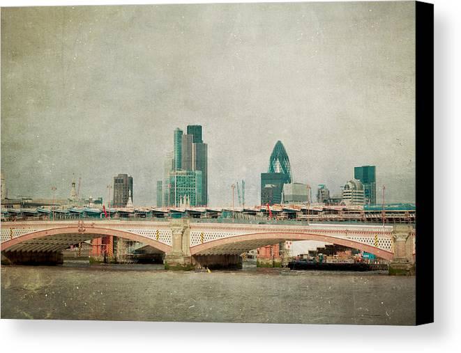 London Photo Canvas Print featuring the photograph Blackfriars Bridge by Violet Gray