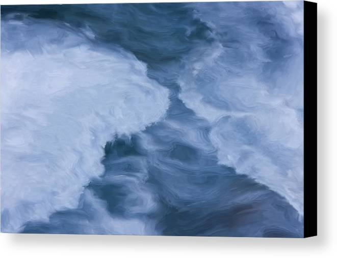 Blue Canvas Print featuring the painting Blue 3               by Jack Zulli