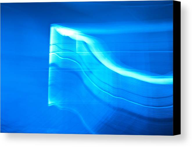 Blue Canvas Print featuring the photograph Blue Abstract 3 by Mark Weaver