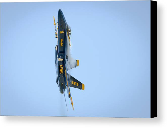 Cleveland Canvas Print featuring the photograph Blue Angels Turn And Burn by Brad Hartig - BTH Photography