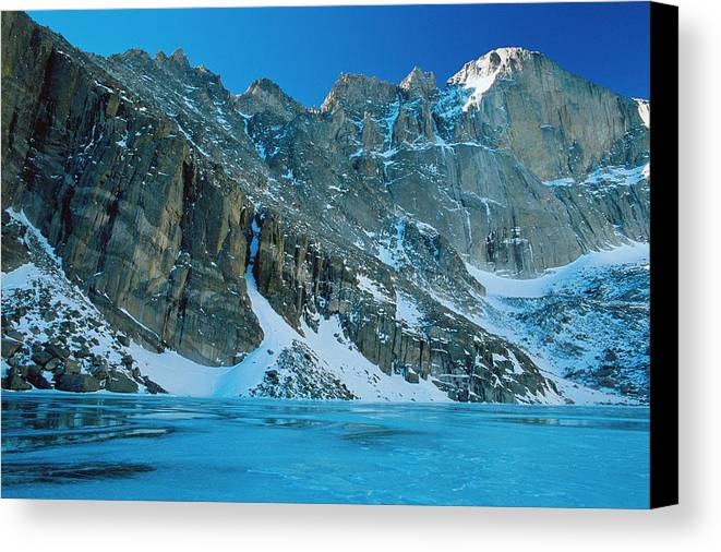 Landscapes Canvas Print featuring the photograph Blue Chasm by Eric Glaser