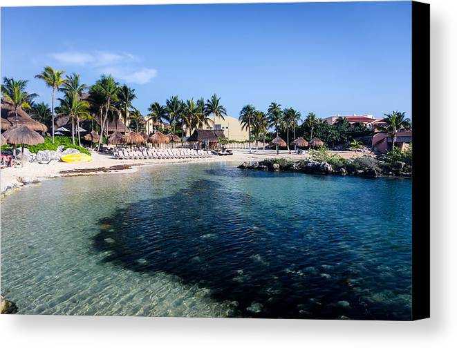 2014 Canvas Print featuring the photograph Blue Lagoon by Jose Flores
