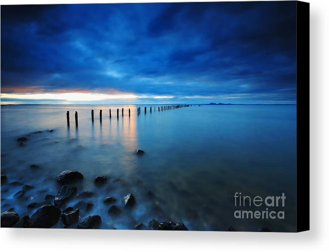 Landscape Canvas Print featuring the photograph Blue Springs by Simone Byrne Photography