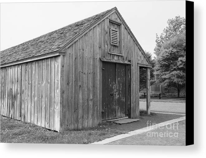 Shed Canvas Print featuring the photograph Boat Shed by Ruth H Curtis