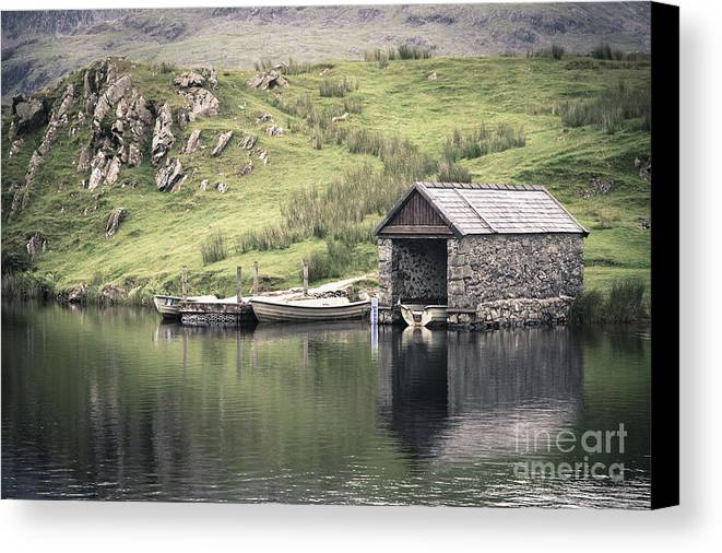 Boat Canvas Print featuring the photograph Boathouse by Jane Rix