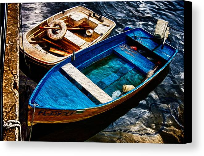 Boats Canvas Print featuring the photograph Boats by Scott Mullin