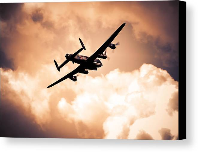 Lancaster Canvas Print featuring the photograph Bomb Doors Open by Chris Smith