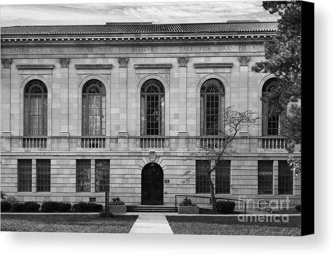 American Canvas Print featuring the photograph Bowling Green State University Mc Fall Center by University Icons