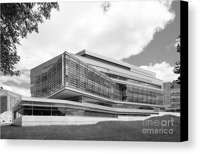 Brandeis Canvas Print featuring the photograph Brandeis University Carl J. Shapiro Science Center by University Icons