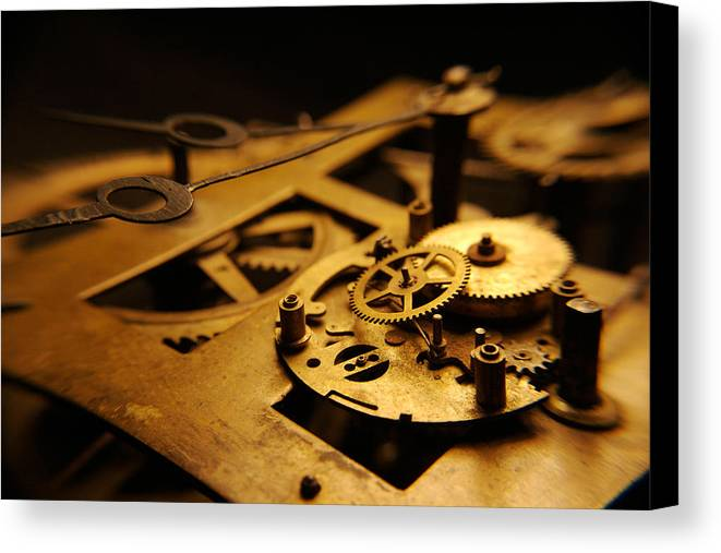 Clock Canvas Print featuring the photograph Breach Of Time by Jon Emery