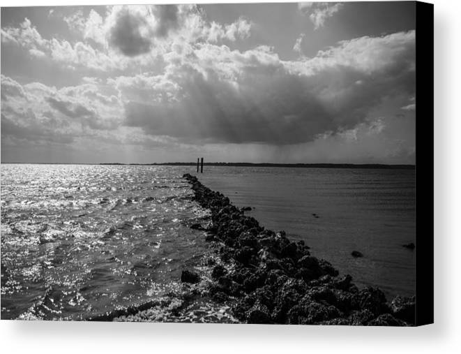 St Helena Canvas Print featuring the photograph Breaking Divide by Steven Taylor