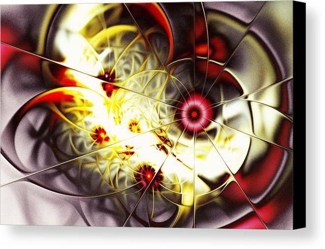 Abstract Canvas Print featuring the digital art Breakthrough by Anastasiya Malakhova