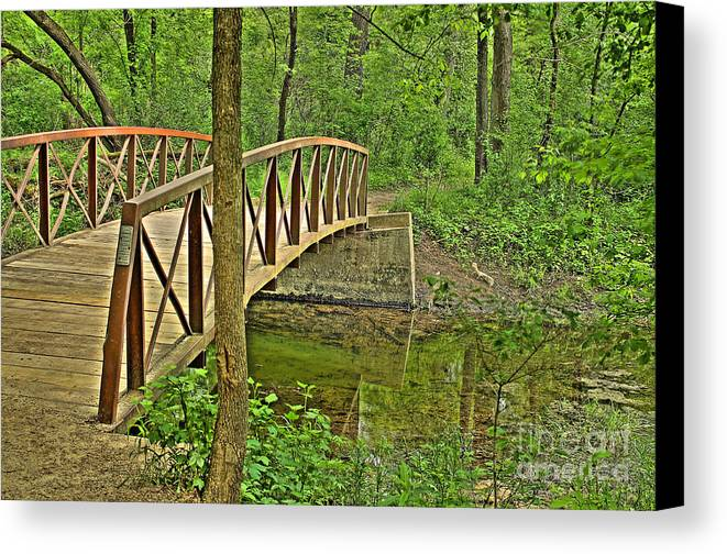 Bridge Canvas Print featuring the photograph Bridge At River Bend by Jimmy Ostgard