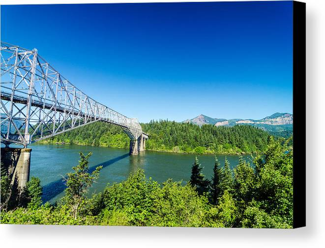 Bridge Canvas Print featuring the photograph Bridge Of The Gods by Jess Kraft