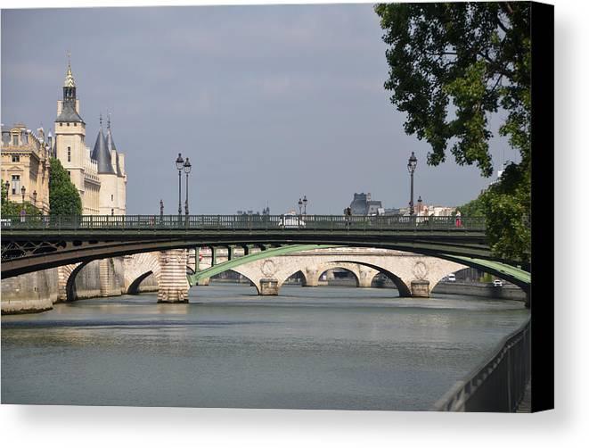 Bridges Canvas Print featuring the photograph Bridges Over The Seine And Conciergerie - Paris by RicardMN Photography