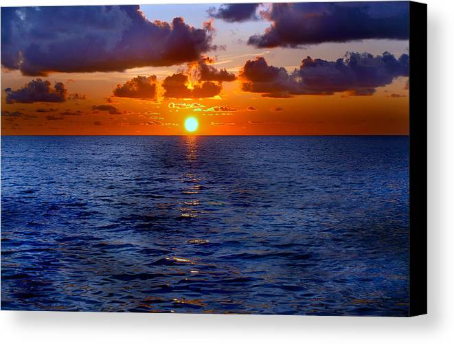 Florida Canvas Print featuring the photograph Brilliant Sunset by Donna Proctor