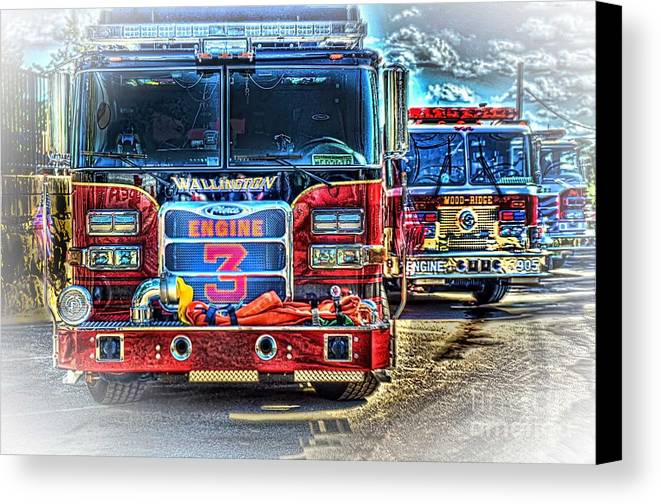 Fire Trucks Canvas Print featuring the photograph Brute Strength by Arnie Goldstein