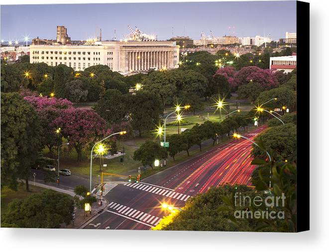 South America Canvas Print featuring the photograph Buenos Aires City by Lucas Guardincerri