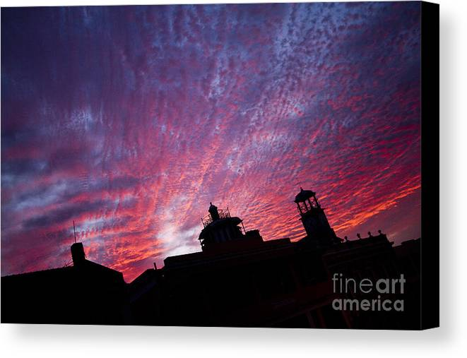 South America Canvas Print featuring the photograph Builings In The Sky by Lucas Guardincerri