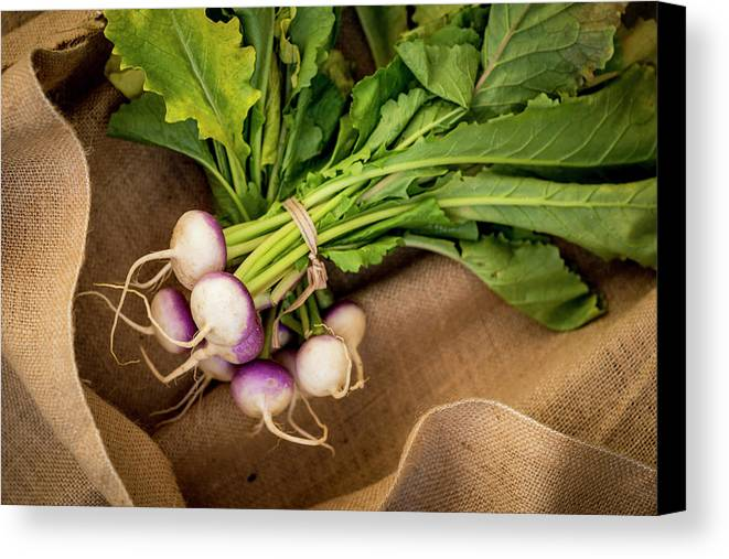 Horizontal Canvas Print featuring the photograph Bunch Of Turnips by Aberration Films Ltd