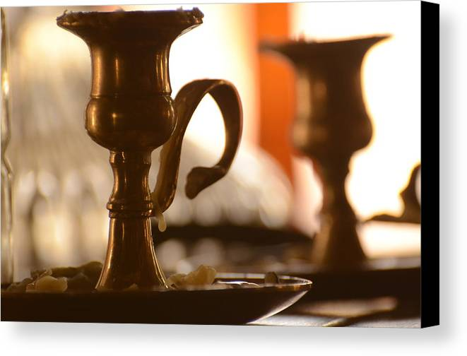 Candle Canvas Print featuring the photograph Burn Out by Deann Brice