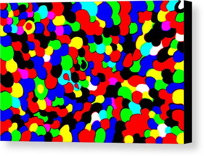 Colors Canvas Print featuring the photograph Busy Heads by Christopher Rowlands