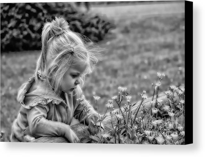 Child Canvas Print featuring the mixed media Buttercup by Gail Bridger