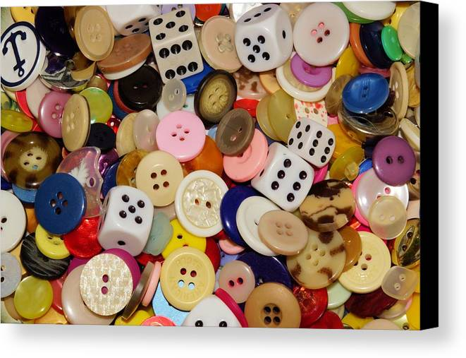 Button Canvas Print featuring the photograph Buttons 676 by Ron Harpham