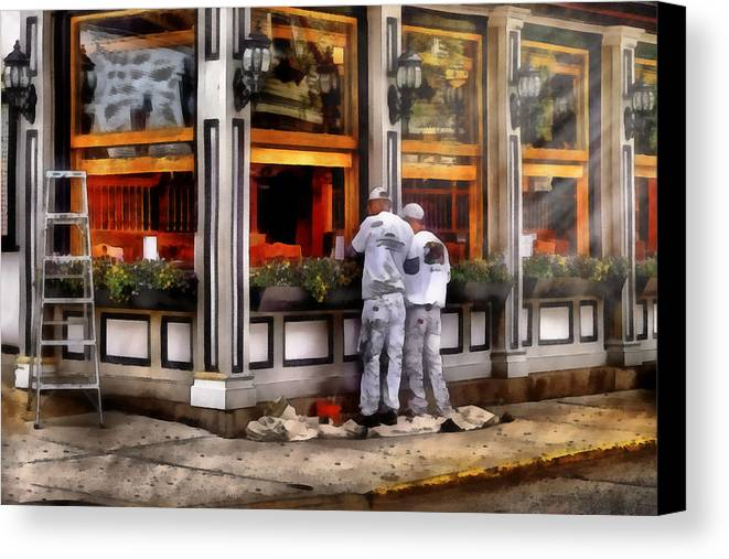 Savad Canvas Print featuring the photograph Cafe - The Painters by Mike Savad