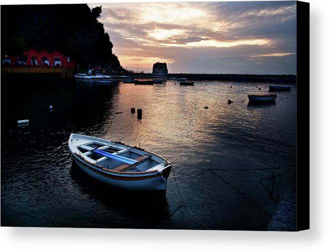 Scenic Canvas Print featuring the photograph Calm Harbor by James David Phenicie