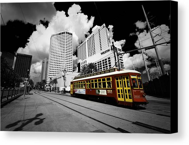 New Orleans Canvas Print featuring the photograph Canal Streecar2 by Donna Futrell