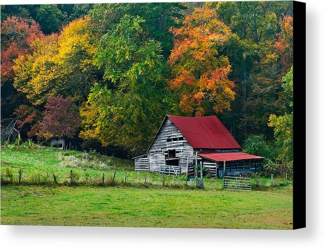 Appalachia Canvas Print featuring the photograph Candy Mountain by Debra and Dave Vanderlaan