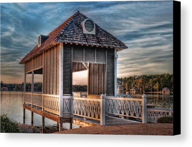 Canebrake Canvas Print featuring the photograph Canebrake Boat House by Brenda Bryant