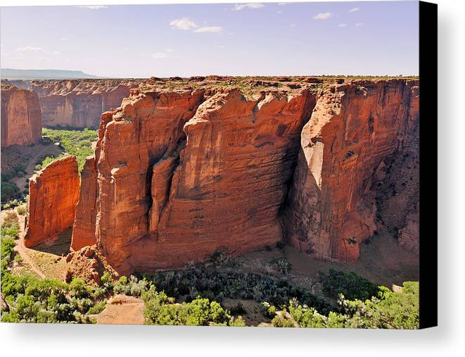 Canyon Canvas Print featuring the photograph Canyon De Chelly - View From Sliding House Overlook by Christine Till