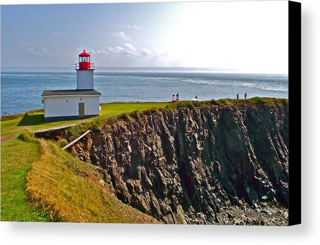 Cape D'or Lighthouse Canvas Print featuring the photograph Cape D'or Lighthouse-ns by Ruth Hager