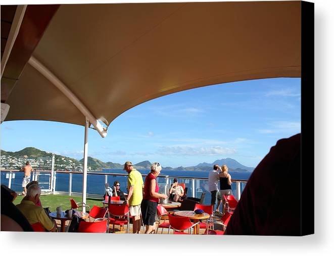 Cruise Canvas Print featuring the photograph Caribbean Cruise - St Kitts - 121284 by DC Photographer