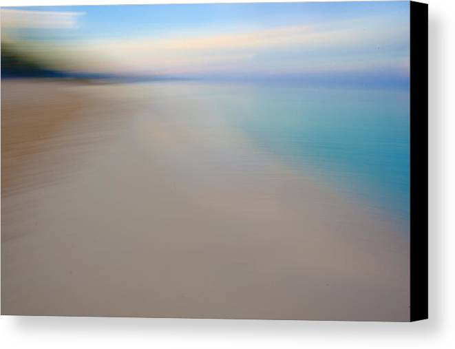 Beach Canvas Print featuring the photograph Caribbean Sea Abstract by Paul Huchton
