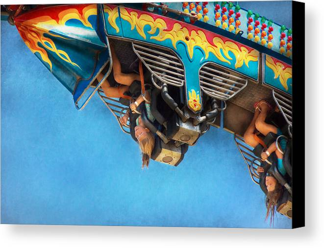 Roller Coaster Canvas Print featuring the photograph Carnival - Ride - The Thrill Of The Carnival by Mike Savad