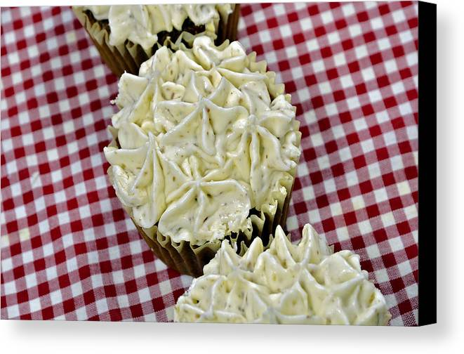 Baking Canvas Print featuring the photograph Carrot Cupcakes by Susan Leggett