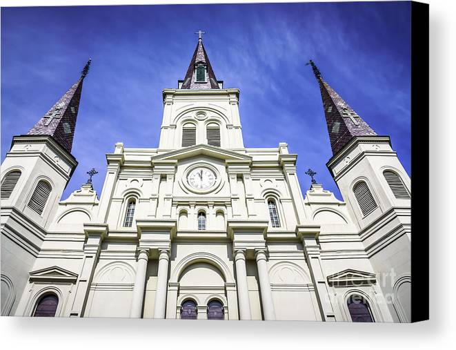America Canvas Print featuring the photograph Cathedral-basilica Of St. Louis King Of France by Paul Velgos