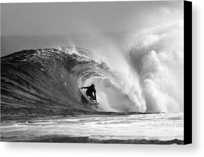 Surf Canvas Print featuring the photograph Caveman by Paul Topp