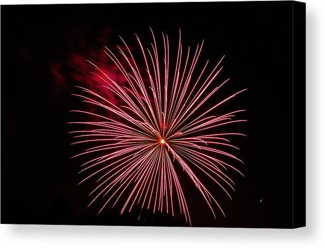 Fireworks Canvas Print featuring the photograph Celebration Xvii by Pablo Rosales