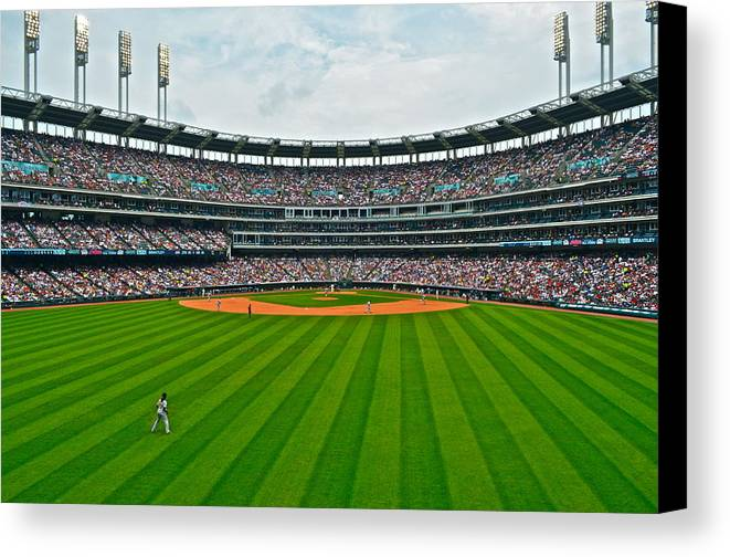 Centerfield Canvas Print featuring the photograph Center Field by Frozen in Time Fine Art Photography
