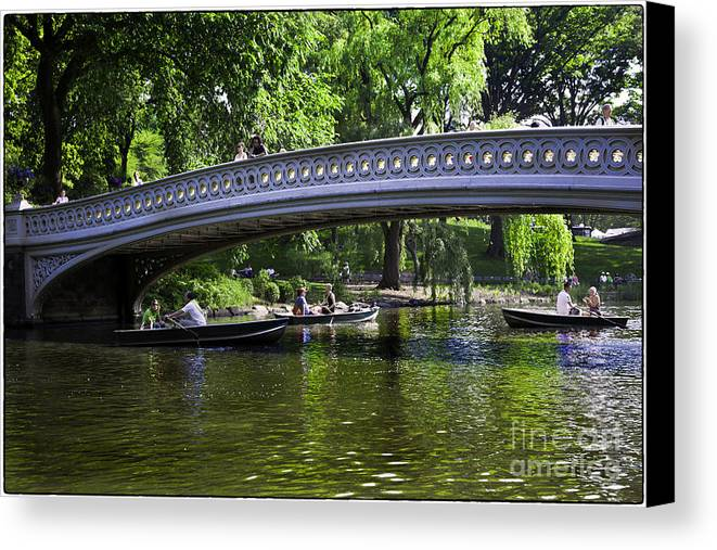 Central Park Canvas Print featuring the photograph Central Park Day 2 by Madeline Ellis