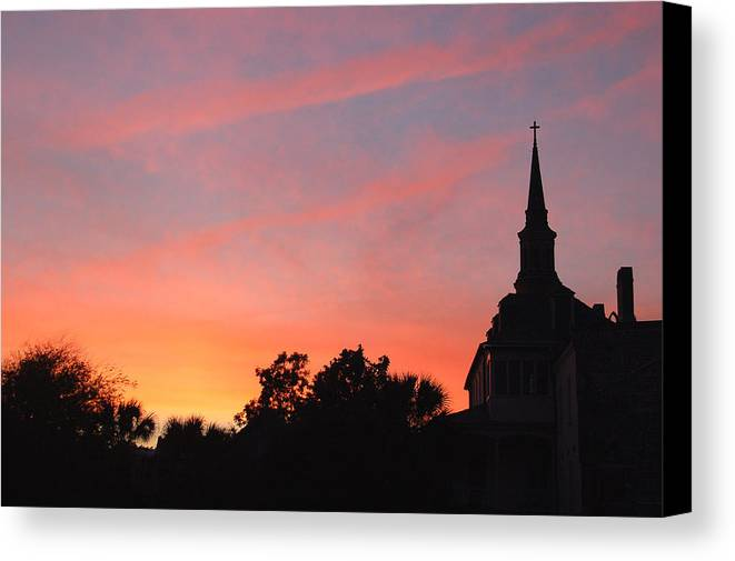 Charleston Canvas Print featuring the photograph Charleston At Dusk by Suzanne Gaff