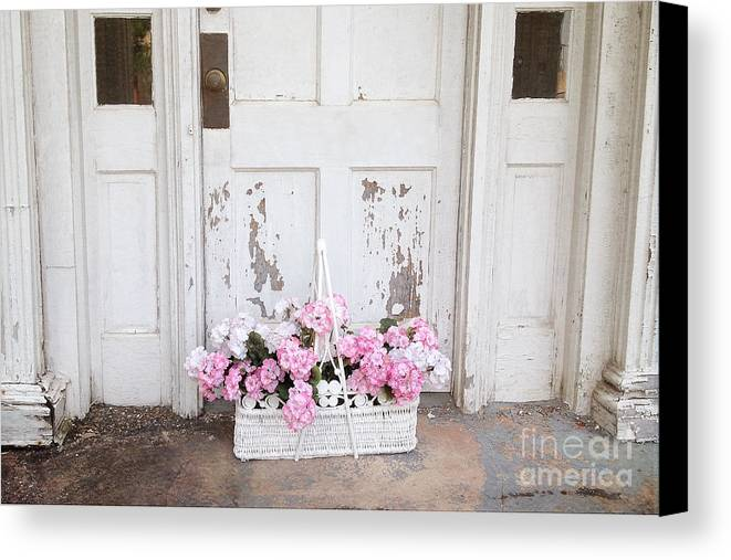 Vintage Charleston Shabby Chic Photos Canvas Print Featuring The Photograph  Charleston Shabby Chic Vintage Cottage Old