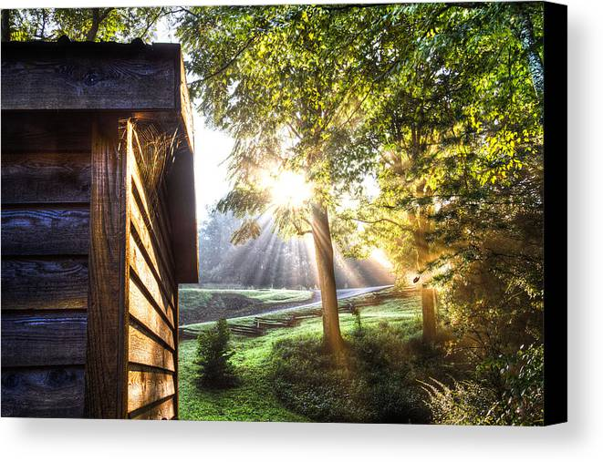 Andrews Canvas Print featuring the photograph Charlotte's Web by Debra and Dave Vanderlaan