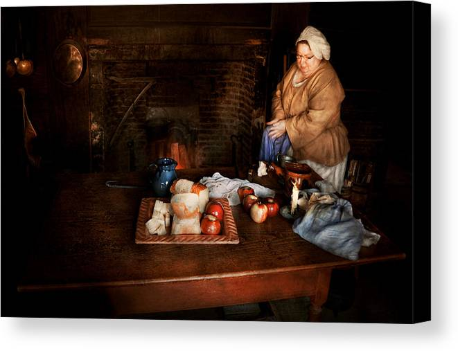 Chef Canvas Print featuring the photograph Chef - Kitchen - Today's Menu by Mike Savad